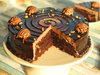 Zoom View of Sliced Simply Rocher Cake in Gurgaon