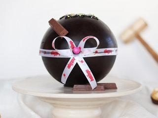Ferrero Rocher and Kitkat Pinata Ball Cake