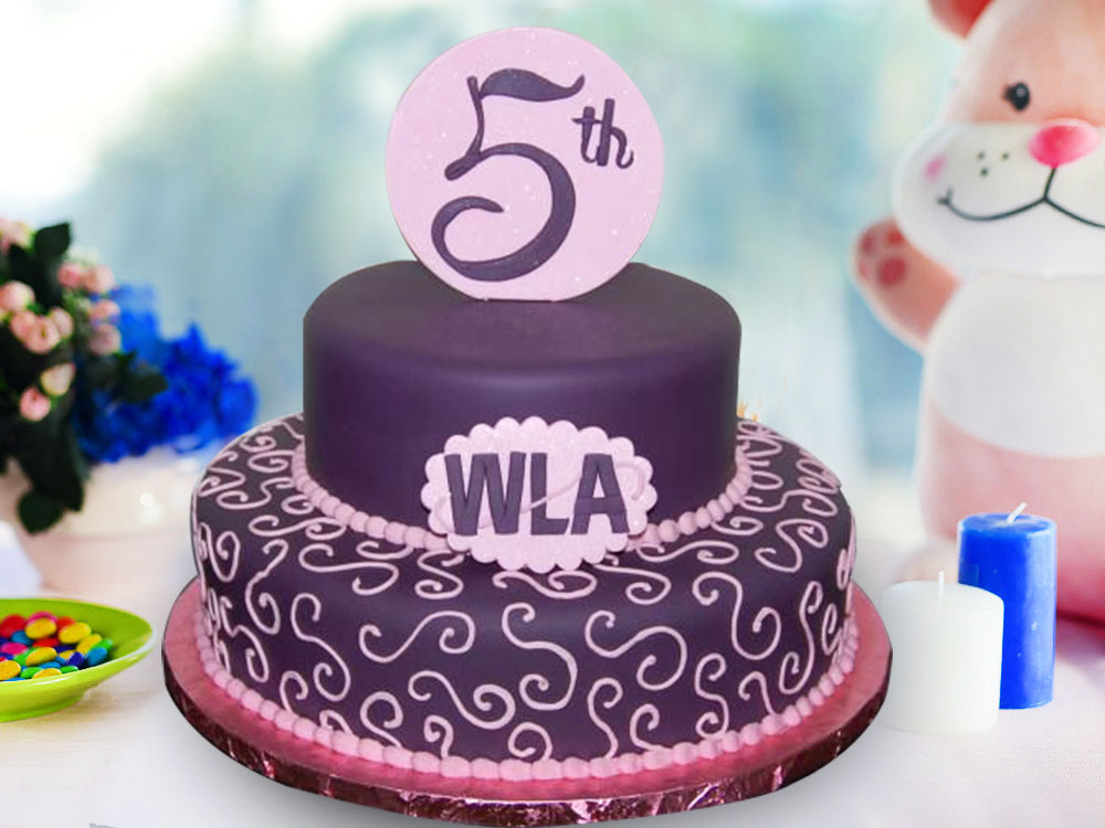 Fifth Anniversary Party Cake