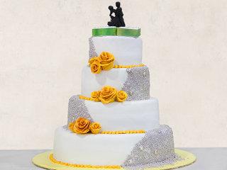 Flamboyant Affair - 4 Tier Fondant Cake