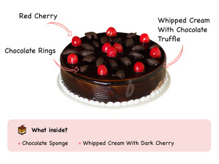 German Gateau - German Black Forest Cake with ingredients