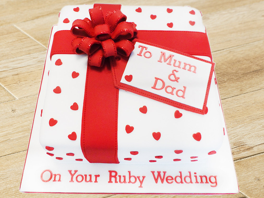 Gift Wrap Party Cake