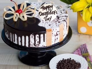 Happy Daughters Day Choco Vanilla Cake