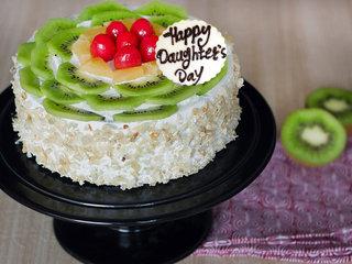 Happy Daughters Day Kiwi Cake