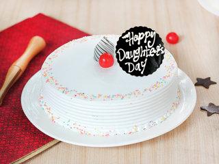 Happy Daughters Day Vanilla Cake