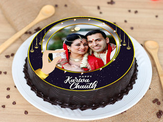 Happy Karwa Chauth Photo Cake