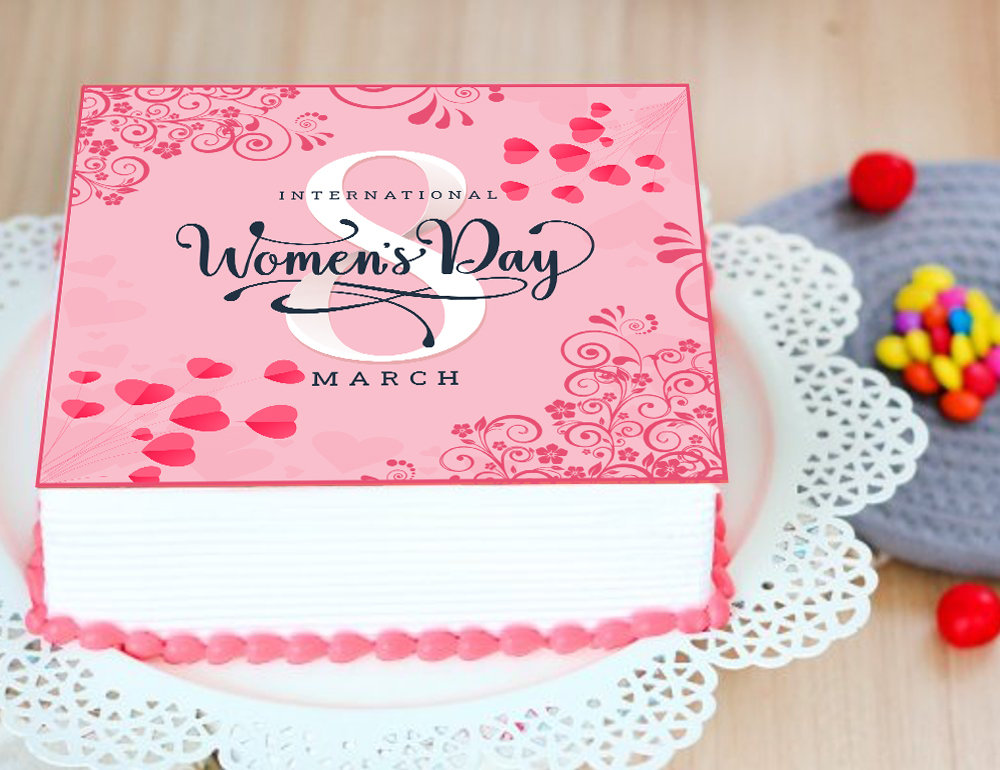 Happy Womens Day Poster Cake