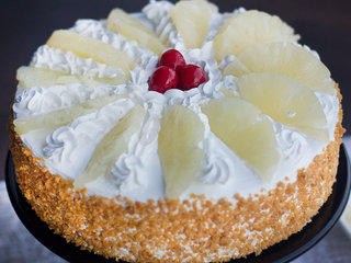 Zoomed View of Hawaiian Pineapple Cake
