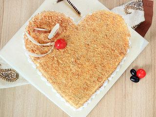 Top View of Creamy Caramel Butterscotch Cake