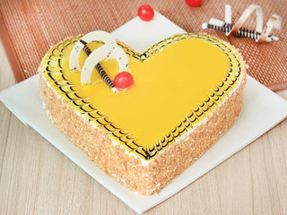 Rythm Of Utopia - A Heart Shaped Butterscotch Cake