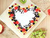 Top View of The Fruitalicious Pamper - Heart Shaped Fruit Cake in Noida