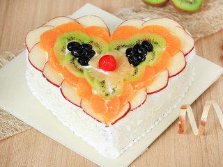 A Heart Shaped Fruit Cake