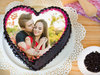 Heart Shaped Photo Cake