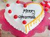 Heart-Shaped Vanilla Christmas Cake