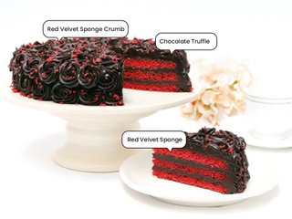 Velvet Crumb Choco Cake with Ingredients mentioned on it