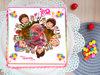 Holi Photo Cake