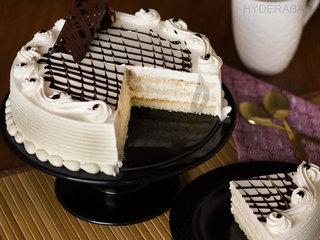 Sliced View of Irish Cream Cake