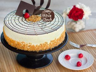 Karwa Chauth Butterscotch Cake