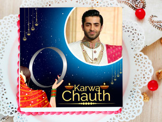 Karwa Chauth Photo Cake