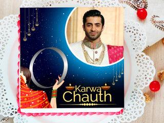 Karwa Chauth Photo Cake