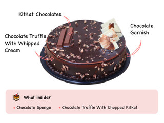 Choco Crunch KitKat Cake with ingredients