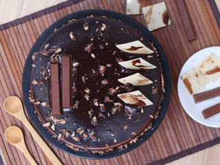 Top View of KitKat Delight Chocolate Cake in Noida