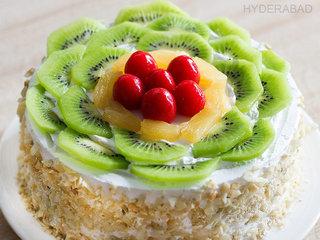 Zoom View of Kiwi Fruit Cake