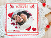 Life Of The Lifetime - A personalised photo cake for valentine