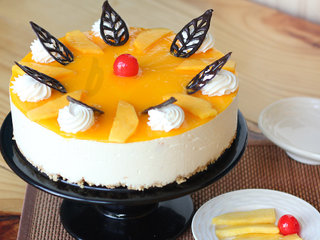 Mango Cheese Cake For Birthday