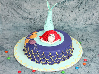 Multi flavored mermaid theme cake