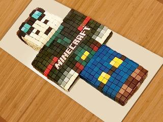 Minecraft cartoon fondant cake