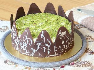 Choco N Pistachio Flavoured Round Cake