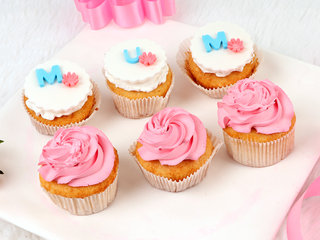 Set Of 6 Mothers Day Cupcakes