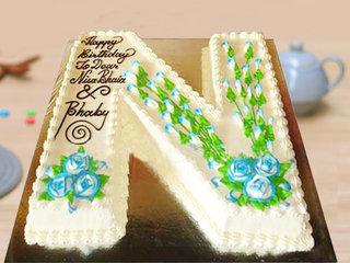 Alphabet N Shaped Cakes