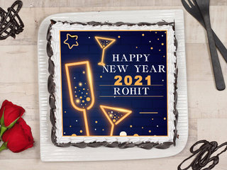 New Year 2021 Poster Cake