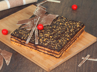 Orange Square Cake in Noida