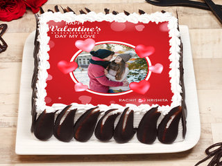 Photo Cake For Valentines Day