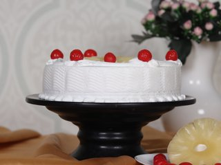 Side View of Pineapple Sensation - A Pineapple Fruit Cake