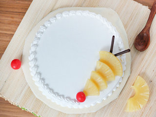 Top View of Delicious Pineapple Cake