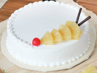 Zoomed View of Delicious Pineapple Cake