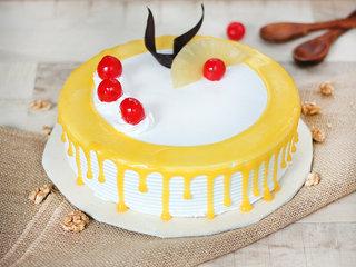 Round Pineapple Cherry cake