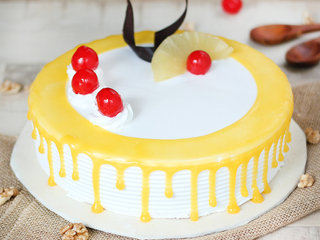 Side View of Drooling Drippy Pineapple Cake
