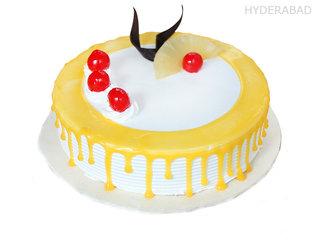 Order Cherry Chocolate Pineapple Cake in Hyderabad