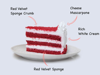 Creamy Velvety Cake with Ingredients