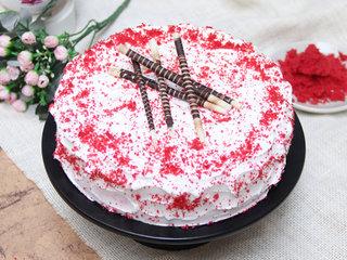 Red Velvet Cake With Choco Sticks