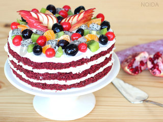 Red Velvet Fruit Cake in Noida
