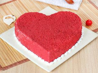 Buy Red Velvet Heart Cake Online in Hyderabad