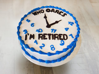 Cream Cake for Retirement Party