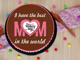 Round Mothers Day Poster Cake