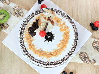 Top view of Traditional Butterscotch Cake